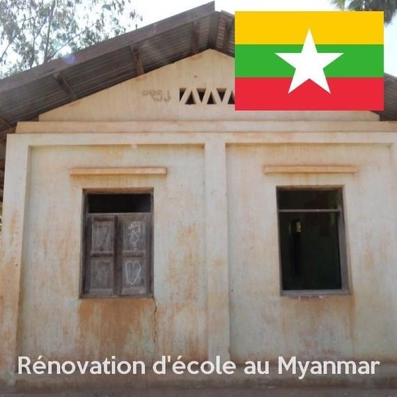 De nouvelles cloisons pour l'école de Poke Ba Kan - Myanmar