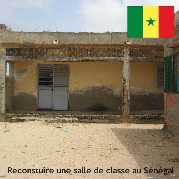 Rénovation d'une salle de classe à Leybar - Sénégal